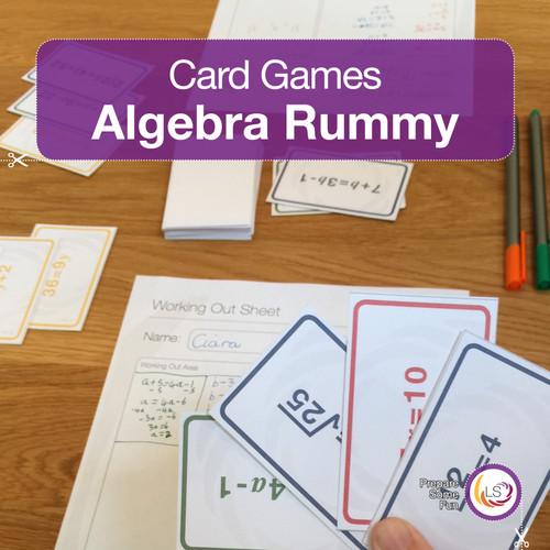 Algebra Rummy Card Game Cover