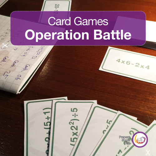 Order of Operations Card Game Cover