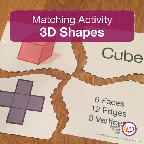 3D Shapes Matching Activity