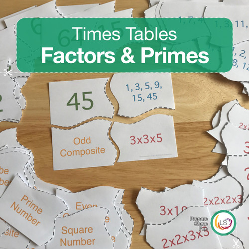 Factors and Multiples Matching Puzzle