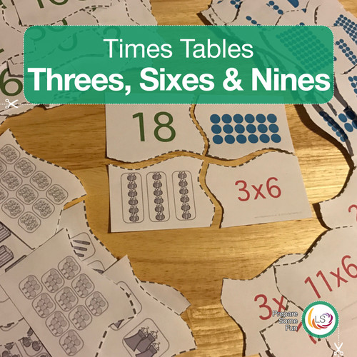Threes, Sixes and Nines Times Tables