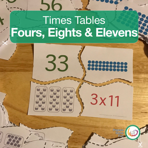 Fours. Eights and Elevens Matching Activity Cover