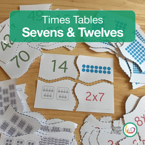 Sevens and Twelve Times Tables Matching Activities
