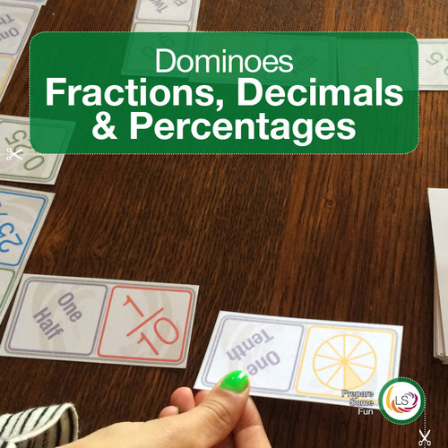 Fractominoes 2 Fractions Decimals and Percentages Cover