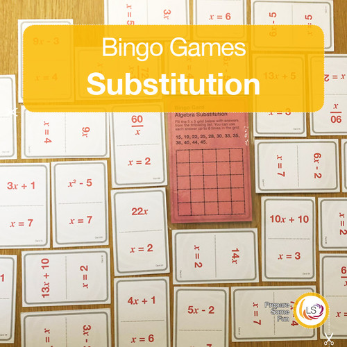 Substitution bingo cards