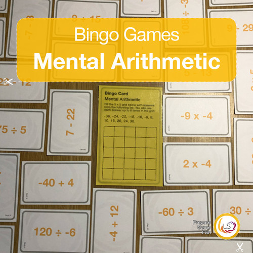 Mental Arithmetic with negative numbers Cover