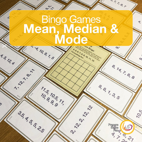 Statistics Bingo Mean Median Mode