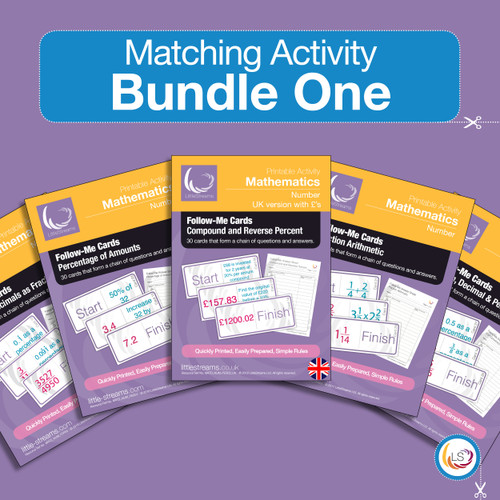 Fractions Bundle Follow me Cards Cover