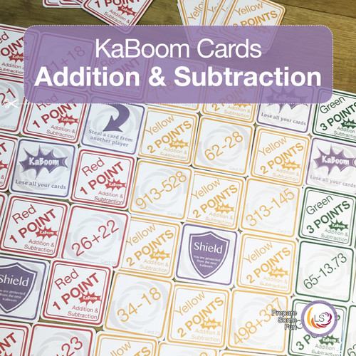 Addition and Subtraction KaBoom Cards