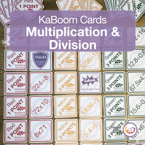Multiplication and Division KaBoom Cards Cover