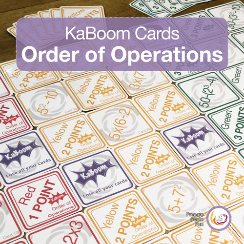 Order of Operations KaBoom Cards Cover