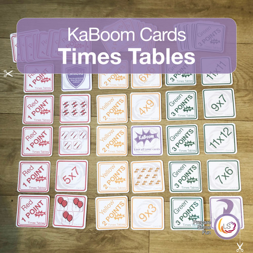Times Tables KaBoom Cards Cover