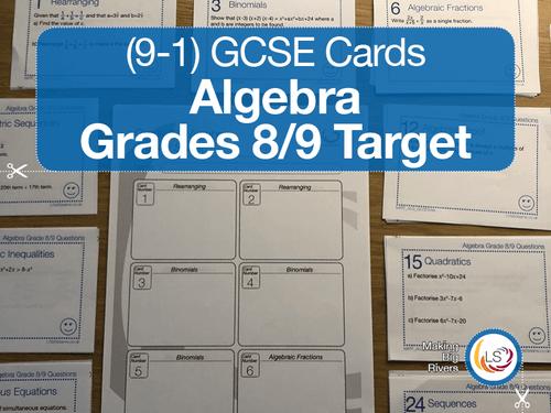 GCSE Algebra Grade 8/9 target questions