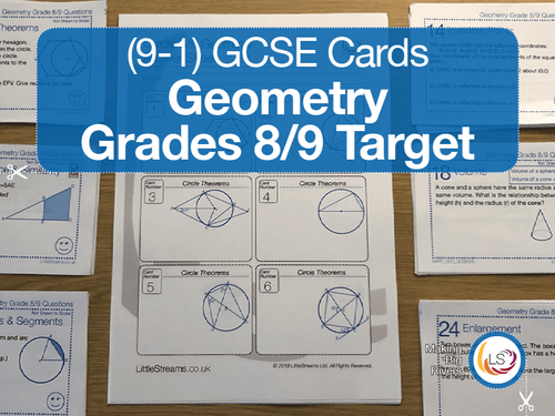 Geometry Grades 8/9 target Revision cards