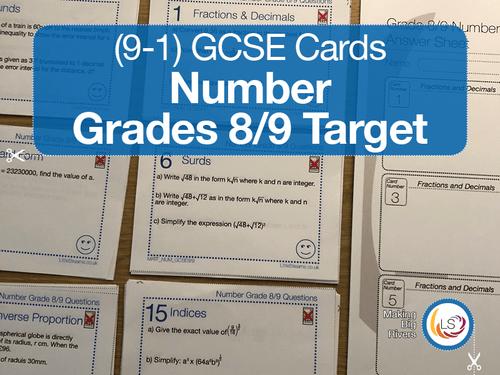 Number GCSE Grades 8/9 target Cover