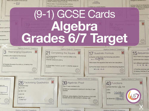 Algebra GCSE targeted to grades 6 and 7