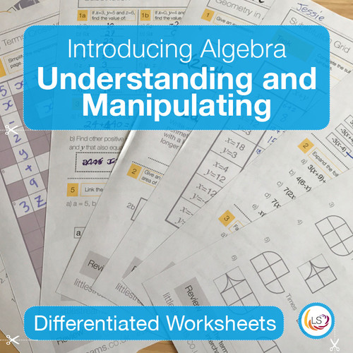 Understanding and Manipulating Data Worksheets Cover