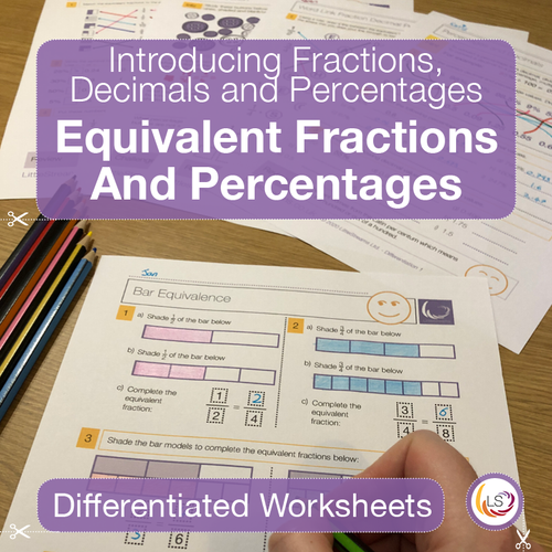 Equivalent Fractions and Percentages Cover