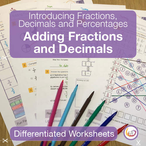 Front Cover Adding Fractions and Decimals