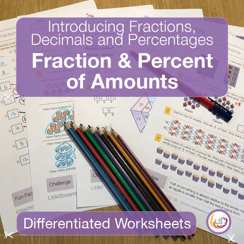 Fractions and Percentage of Amounts Front Cover