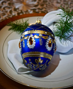 Victorian Blue Faberge Egg