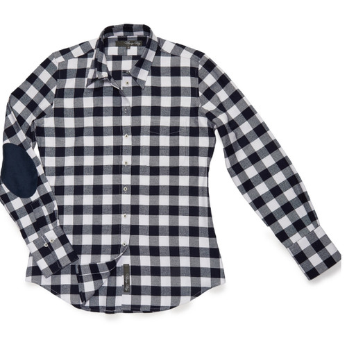 The dress blues check Flannel Patch Ivy