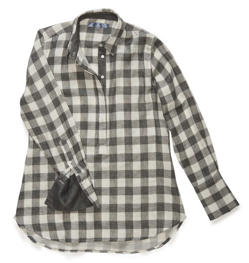 The Groove Popover in slate gray check.