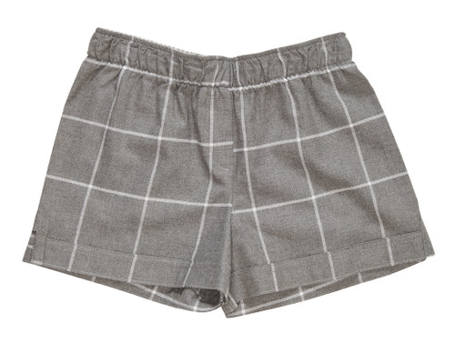The Flannel Boxer in Gray Tattersall