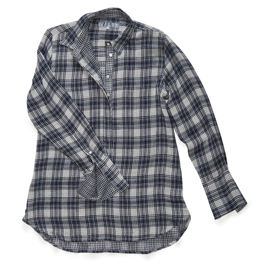 The Groove Popover in Midnight Blue + White Plaid.