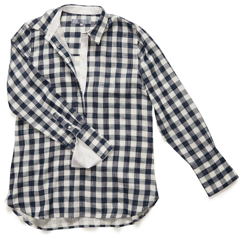 The Groove Popover in Dark Blue Gingham