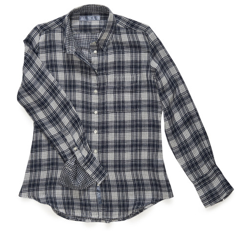 The Double Gauze Ivy is a fun, casual fitted button-down shirt.