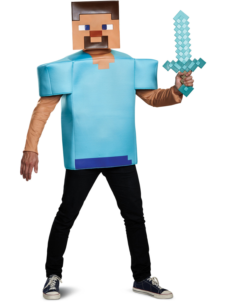 Minecraft Steve Prestige Adult Costume