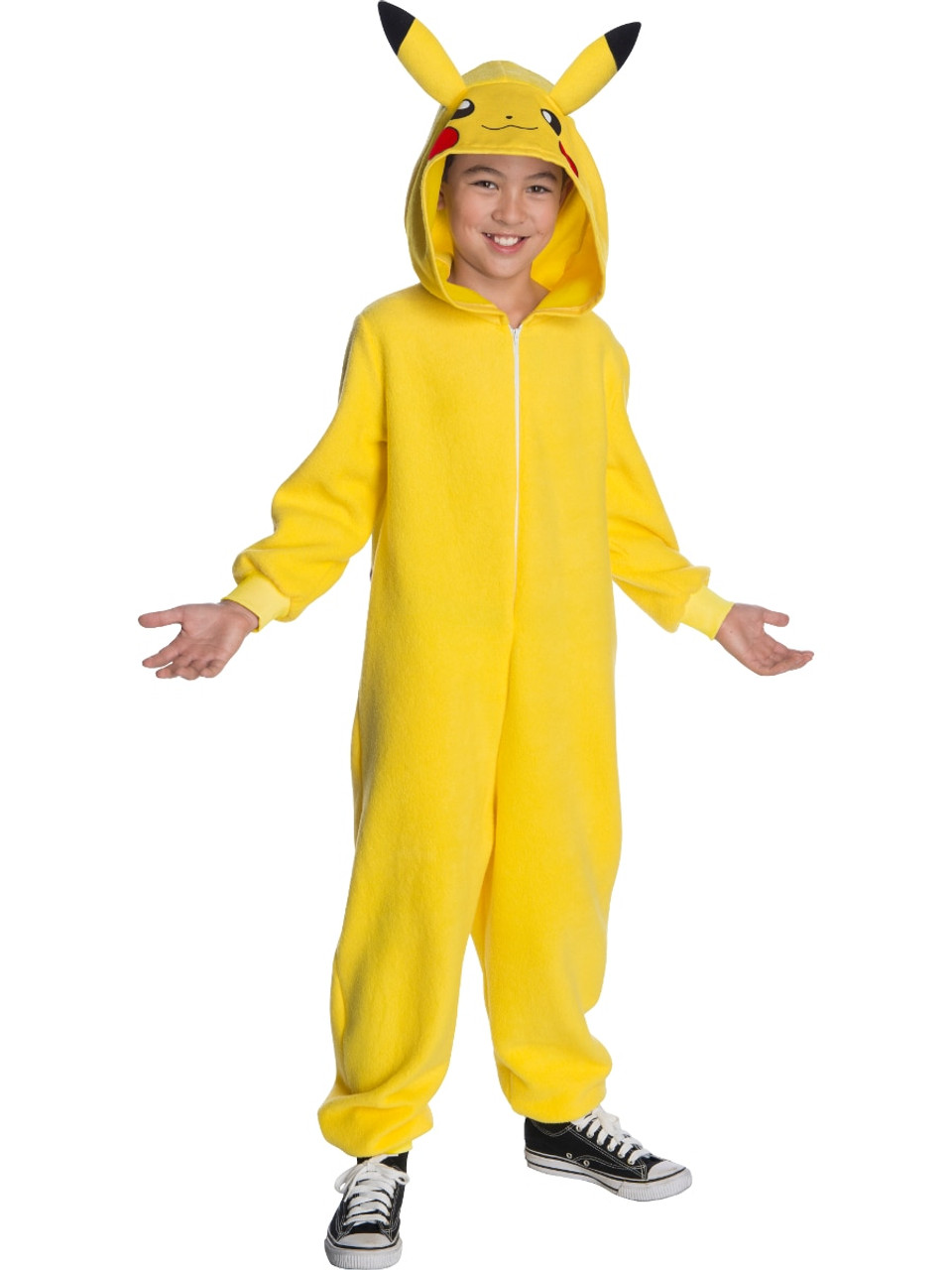 Pokemon Pikachu Hooded Jumpsuit Boy S Costume