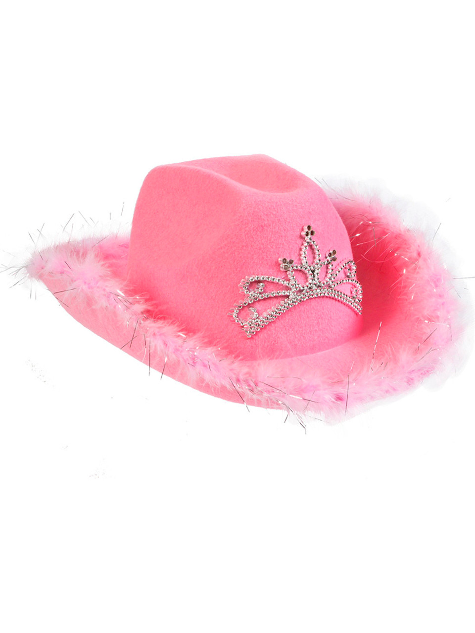 d0f39418 Adult Women or Teen Pink Costume Cowboy Hat with Blinking LED ...