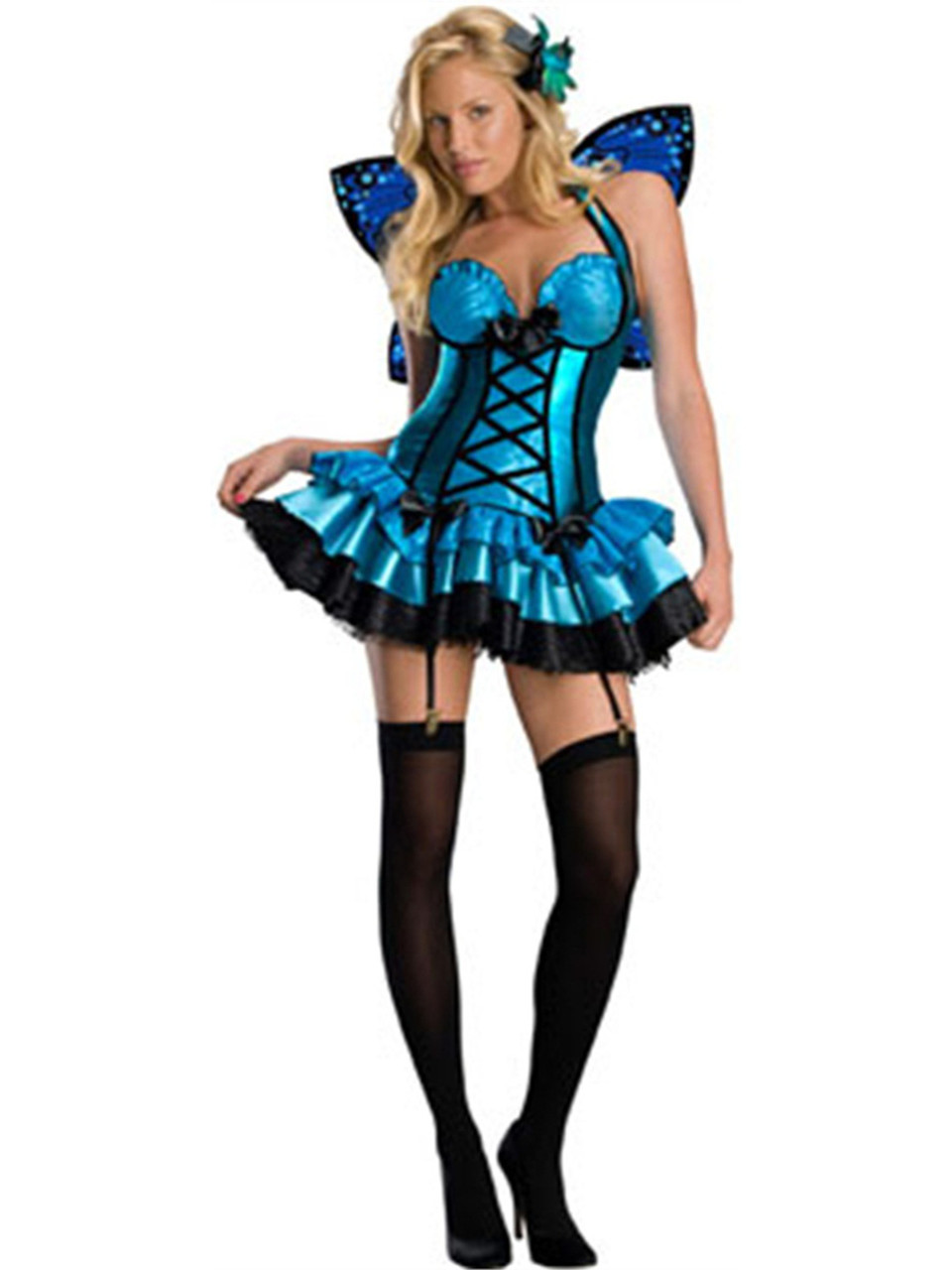 3c50c699f7c Womens Adult Fantasy Fairy Sexy Blue Butterfly or Pixie Costume