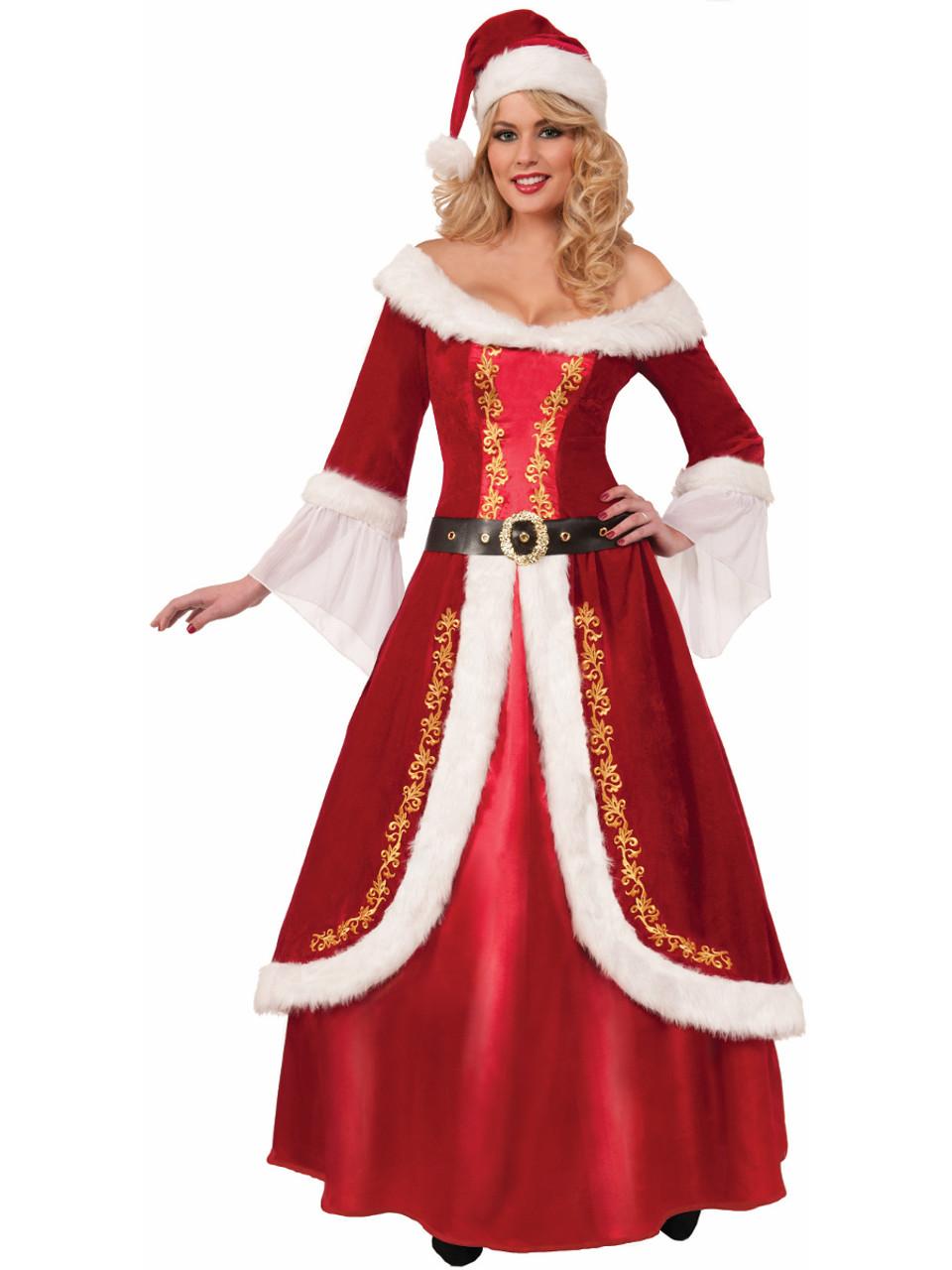 20b578c723d5 Womens Premium Mrs Santa Claus Red Dress Christmas Holiday Costume