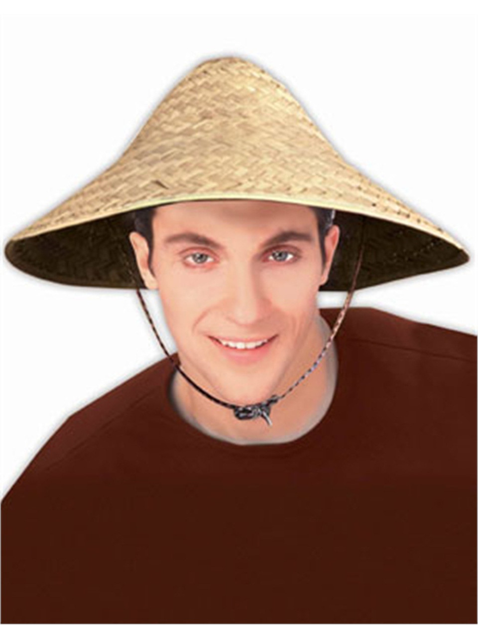 75505ec25 Adult Straw Costume Accessory Coolie Conical Asian Hat