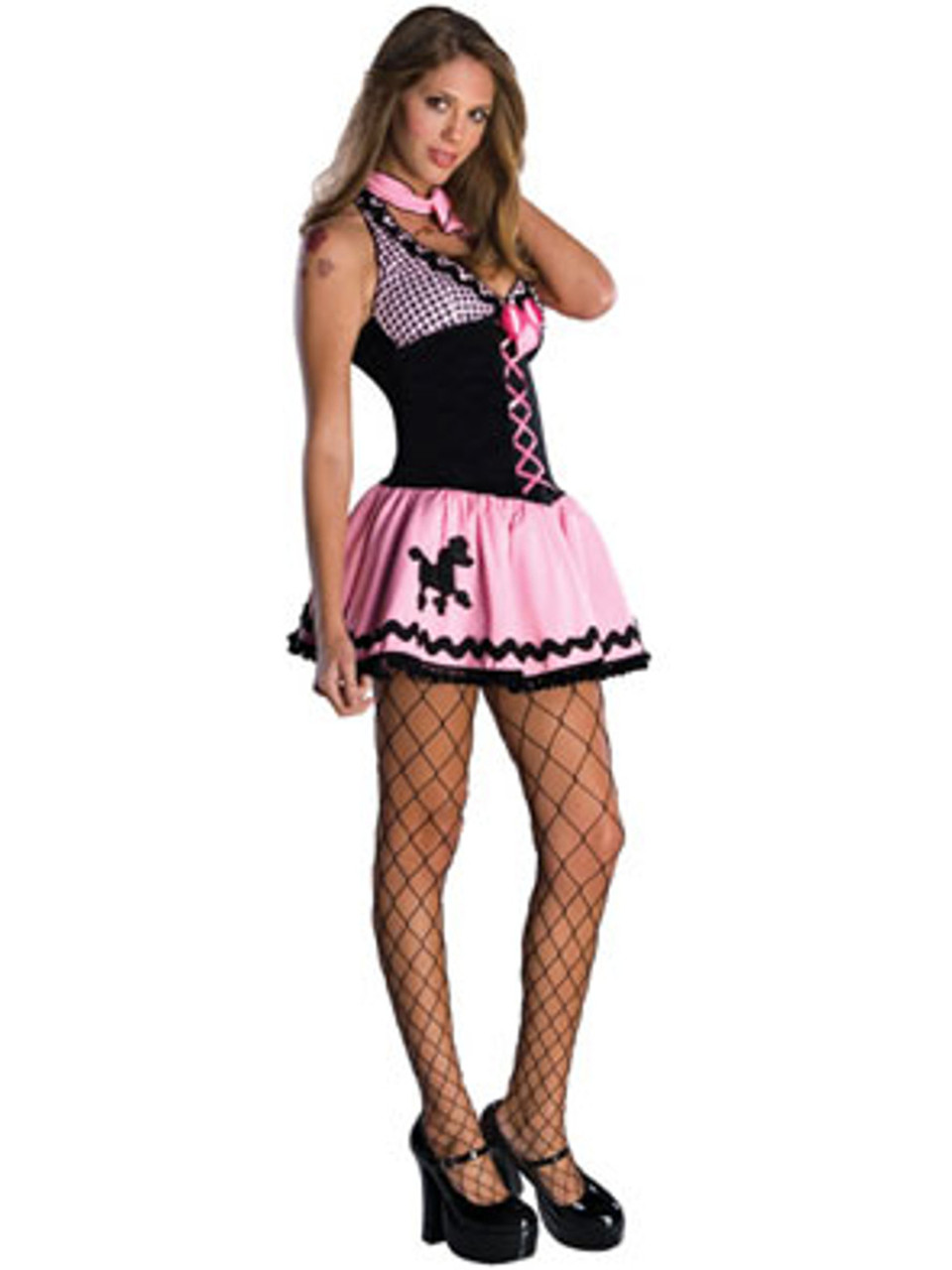 27bc96a4fa1d9 Women's Sexy Adult Hot Rod 50s Sock Hop Poodle Skirt Costume