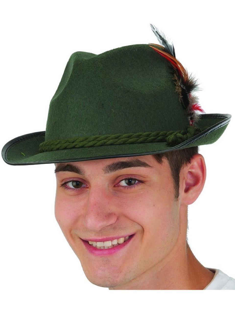 853a0558ab8ebe Adults Mens Green Felt Bavarian Hat Costume Accessory