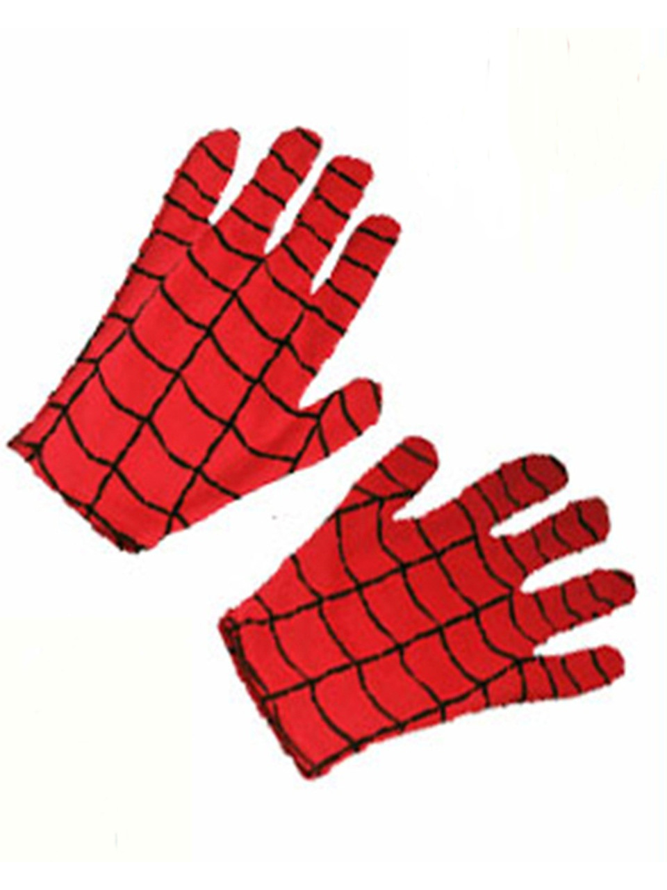 Mens Adult Marvel The Amazing Spiderman Super Hero Red Costume Gloves