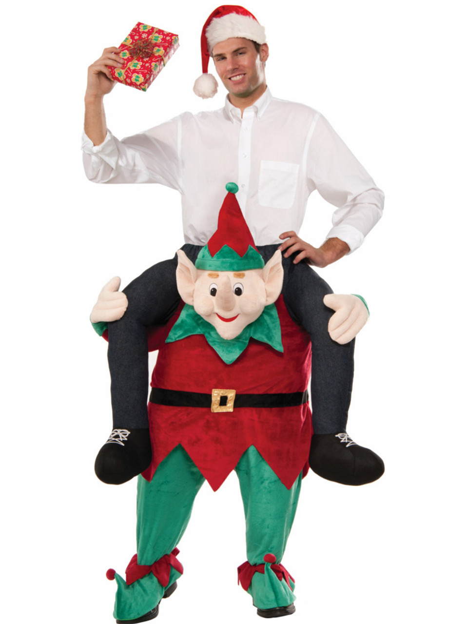 Christmas Elf Costume.Myself On An Elf Mascot Christmas Costume