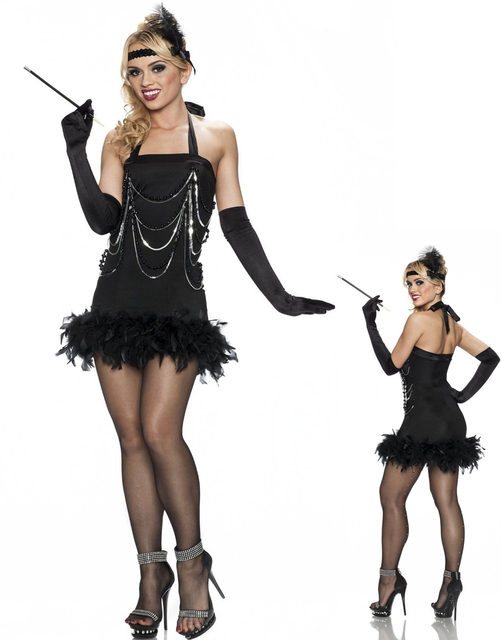 66ca54c4b Womens Adult Sexy All That Jazz Flapper Costume