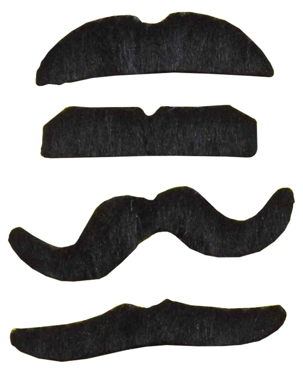 Black Stick On Moustaches
