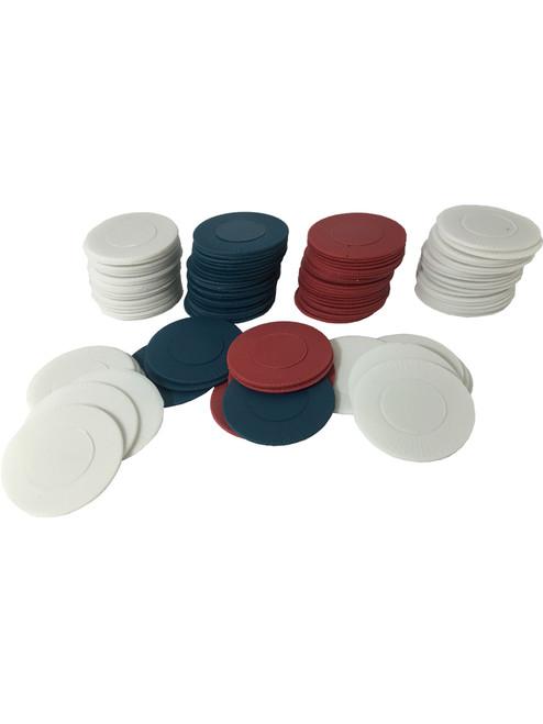 300 POKER CHIPS Red White /& Blue INTERLOCKING CHIPS