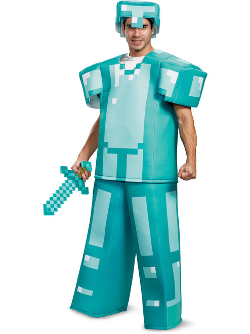 Minecraft Steve Diamond Armor Prestige Adults Costume