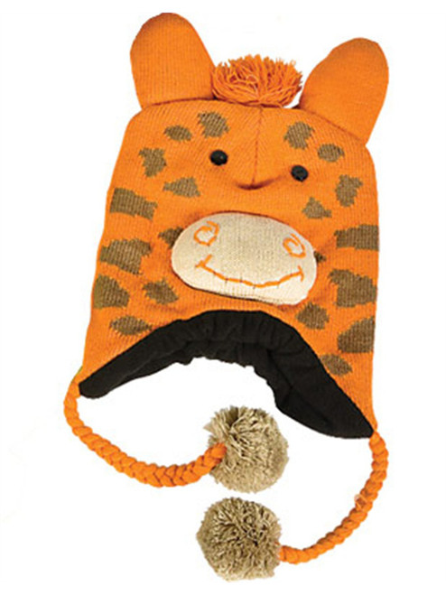 aca33d1f Giraffe Hat Knit Winter Cap Toque Costume Beanie Hat