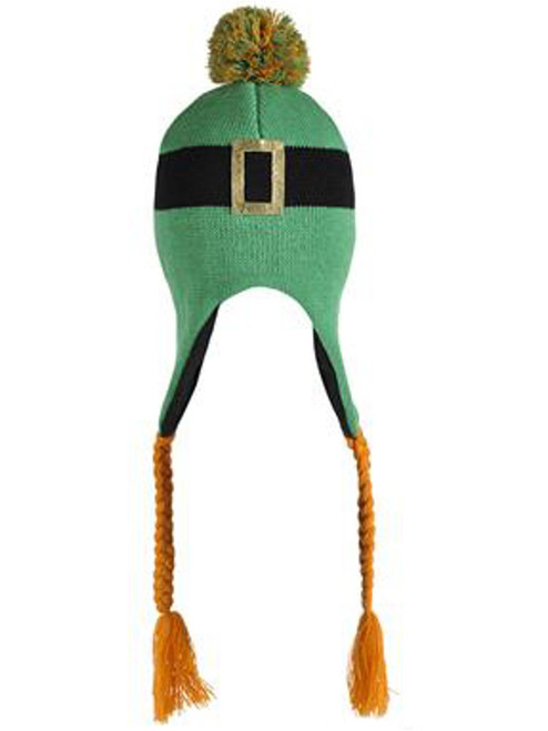 8b6ad54a Saint Patrick's Day Irish Leprechaun Green Knit Winter Beanie Toque Hat