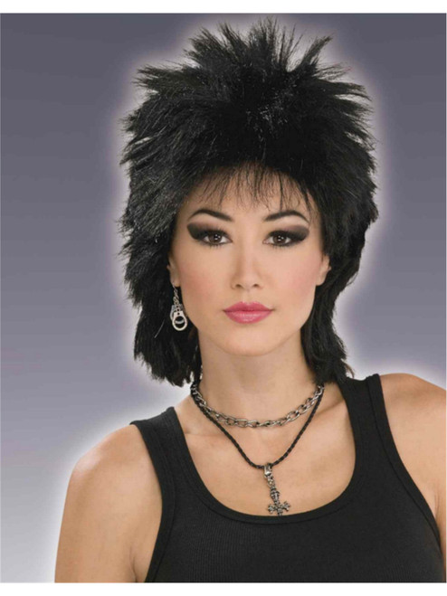 Womens Black 1950s Retro Rockabilly Rock Star Sadie Costume Accessory Wig