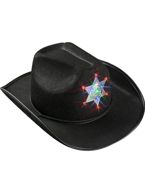 cfb0174c9 Kid's Black Western Sheriff Hat With Star