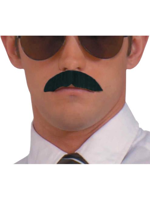 Deluxe BROWN Adjustable 6-Way BENDABLE Costume Moustache MUSTACHE New!!!